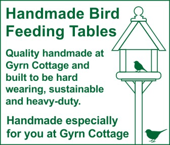 Gyrn Cottage Homemade Bird Tables